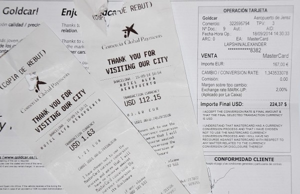Обман туристов в Испании