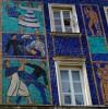 Чудесные росписи на старых домиках., Варшава